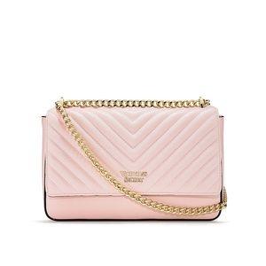 Pink Pebbled Quilt Shoulder Bag Victoria Secret